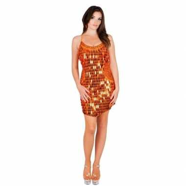 Carnavalsoutfit oranje jurkje