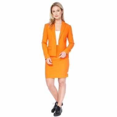 Compleet oranje dames outfit