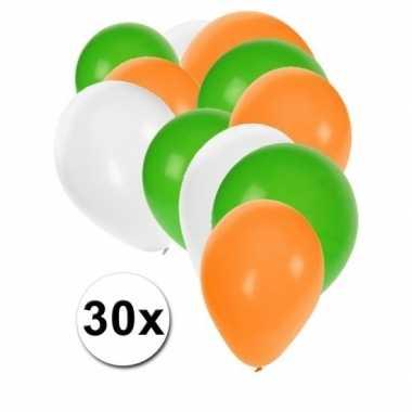 Groene witte oranje ballonnen outfitket