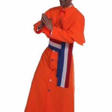 Oranje kardinaal outfit heren