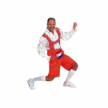Oranje tiroler broek / lederhosen outfit