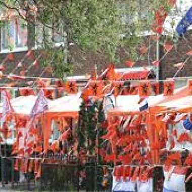 Oranje versierings outfitketten groot