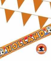 Ek oranje straat huis versiering outfitket oa banner holland meter oranje vlaggenlijnen