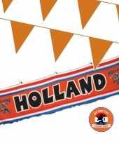 Ek oranje straat huis versiering outfitket oa holland spandoek m vlaggenlijnen