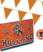 Ek oranje straat huis versiering outfitket oa holland spandoek meter oranje vlaggenlijnen
