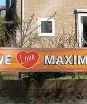 Oranje maxima supporters banner