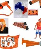 Oranje voetbal supporters outfitket
